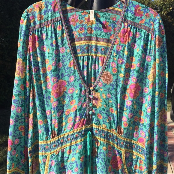 Spell & The Gypsy Collective Dresses & Skirts - 🌿 Spell Folktown Playdress Turquoise Size S